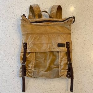 Men's Levi's Canvas and Leather Backpack
